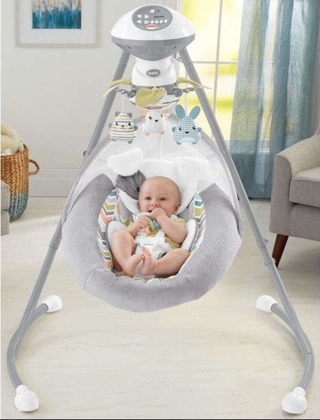 Fisher-Price Sweet Snugapuppy Dreams Cradle 'n Swing 2